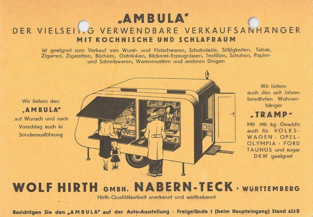 Werbeblatt Ambula