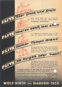 Werbeblatt für Flitz