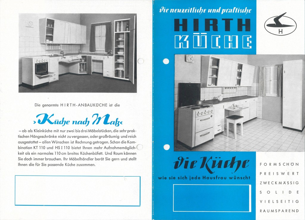 Werbeflyer Hirth-Küche