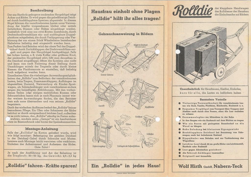 Werbeflyer Rolldie