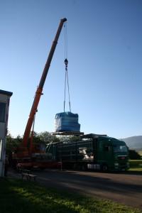 Anlieferung CNC-Fräsmaschine